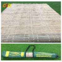 Quality Summer Outdoor Furnitures Bamboo Sleeping Mat Raffia Grass Tied With Carrying Bag for sale
