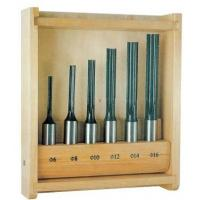Buy cheap 45# Carbon steel router bit sets , 6 - Piece mortising bits set with wooden case from wholesalers
