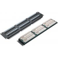 Buy cheap Cat6 UTP Network Patch Panel 48port 2U AMP Ethernet Patch Panels 0.4 - 0.7mm Conductor from wholesalers