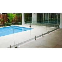 Buy cheap Transparent Outdoor Glass Fence , Fully Frameless Glass Pool Fencing from wholesalers