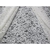 Buy cheap Beautiful White Corded Lace Fabric / Jacquard Lace Fabric By The Yard from wholesalers