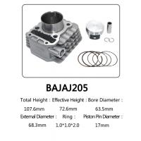 Buy cheap Indian Model Bajaj 205 Motorcycle Cylinder Kit With Piston , Piston Ring from wholesalers