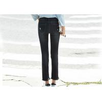 Buy cheap Girls Skinny Denim Pants Ripped Paint Super Spandex / Cotton Material from wholesalers