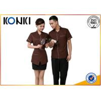 Buy cheap Custom Color Restaurant Staff Uniforms For Waitresses Side Open from wholesalers