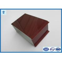 Buy cheap Top Quality Wood Grain Transfer Printing Aluminum Profile for Door Frame from wholesalers