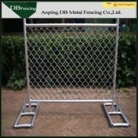 China High Strength Temporary Chain Link Fence , Steel Chain Link Security Fence on sale