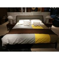 Buy cheap 2017 New design of  Doube / King bed Interior Fitment for Apartment Furniture by Walnut wood from China factory from wholesalers