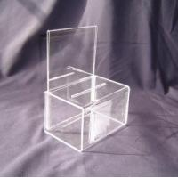 Buy cheap Eco - Friendly 216 * 180 * 190mm Acrylic Storage Boxes for Earring & Bracelet Display product