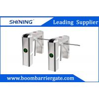 Buy cheap 100W LED Display Waist Height Tripod Turnstile Gate With Tubular Bumper from wholesalers