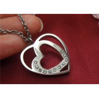 Buy cheap Unique Stainless Steel Pendant Necklace , Double Heart Pendant Necklace For Couple product