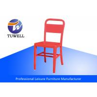 Buy cheap Anodizing Mental Dining Navy Chairs Outdoor Or Indoor , Leisure Navy Chair from wholesalers