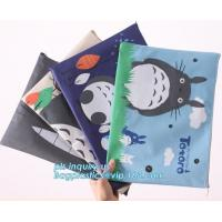 Buy cheap Stationery A4 Paper Waterproof Office Zipper File Bag, Office Stationery Bright Colors OEM File Bag Pocket Clear PVC Bag product