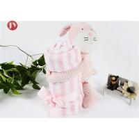 Buy cheap china factory wholesale OEM lovely baby Microfibre Coral Fleece animal blanket with Toys from wholesalers