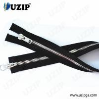 China Guangzhou Garment Accessories Shiny Sliver Corn Teeth Double Open End Zipper on sale