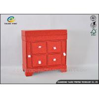 Buy cheap Red Cabinet Shaped Jewelry Gift Boxes With Large Capacity Jewelry Storage from wholesalers