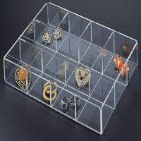 Buy cheap Eco-Friendly Jewelry Acrylic Display Case With Laser Engraving Logo product