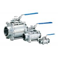 Buy cheap Full Port 3 Piece Stainless Steel Ball Valve , Gas / Water 1 / 4 Inch Ss Ball Valve from wholesalers
