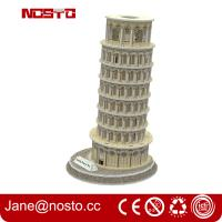 Buy cheap 3d puzzle famous buildings , 3D puzzle souvenir leaning tower of pisa from wholesalers