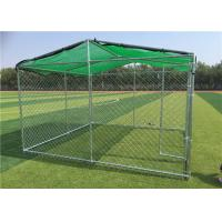 Buy cheap Large Dog Kennels For Outside / Large Dog Enclosures Outdoor With Roof Tube from wholesalers