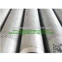 Buy cheap API J55/K55 Stainless Steel 304 5 Perforated Pipes Casing Screen from wholesalers