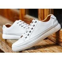 Buy cheap Customized Leisure Comfortable Trendy Shoes Popular White Leather School Shoes from wholesalers
