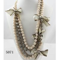 Buy cheap 2012 beautiful beaded long pearl necklace with fashion design from wholesalers