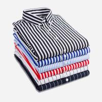 Buy cheap Striped Custom Men Work Shirts Tailored Dress Shirts Multi Color Optional from wholesalers