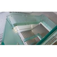 Buy cheap Glass railing with stainless steel standoff / patch fitting for staircase product