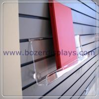 Buy cheap Clear Acrylic Slat-wall Book Shelves 6 tall x 2 depth x 9 long from wholesalers