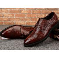 Buy cheap V Open Elastic Classic Dress Shoes Semi Brogues Lace Up Rubber Outsole from wholesalers