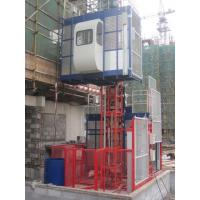 Buy cheap 380V 50HZ / 60HZ Construction Material Hoists 1000KGS With Double Cage from Wholesalers
