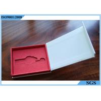 Buy cheap Metal Key White Cardboard Jewelry Boxes Color Printing Interior Spongy Foam from wholesalers