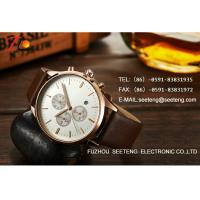 Buy cheap Brand high quality business Men's analog watch with pu leather strap from wholesalers