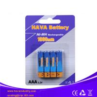 Buy cheap NiMH Rechargeable Battery AAA1000mAh 1.2V from wholesalers