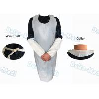 Buy cheap Operating Rooms White Disposable Aprons , Dust Proof Plastic Throw Away Aprons from wholesalers