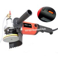 """Buy cheap 220v 1400W M14 4"""" electric stone wet polisher variable speed hand grinder water mill with 8 units 4"""" wet polishing pad from Wholesalers"""