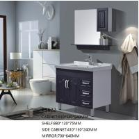 Buy cheap Modern Design PVC Floor Standing Vanity Units With Side Cabinet And Mirror from wholesalers