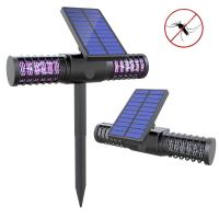 Buy cheap Solar Bug Zapper Light Wireless Insect & Mosquito Killer Light with 4 UV LED Bulbs Rechargeable Garden Lights from wholesalers