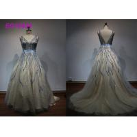 Buy cheap Luxury Bead Work Prom Ball Gowns For Women Special Occasion Evening Embroidered from wholesalers