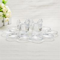 Buy cheap Kitchen use egg holder clear glass egg holder with hen figurine home decor from wholesalers