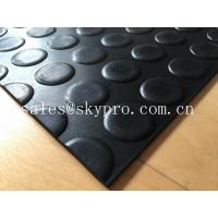 Buy cheap Heavy duty non-slip 3mm coin stud mat round dot rubber sheet floor product