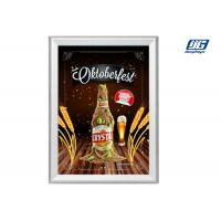 Buy cheap Aluminum Profile Led Illuminated Snap Poster Frames A1 Size Rectange Graphic Display product