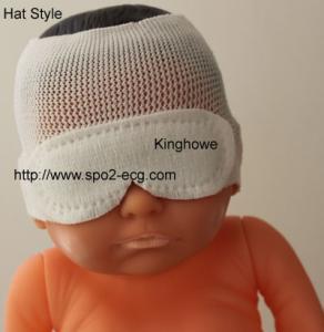 China Hat Style Neonatal Phototherapy Eye Mask Resist Blu Light OEM ODM Service on sale