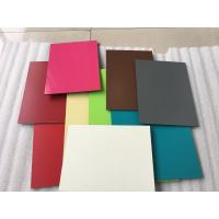 Buy cheap Red Aluminum Composite Cladding Material 1550 X 5500 X 5mm With 0.50mm Alu Thickness product