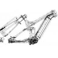 140mm Travel Electric Full Suspension Bike Frame 190 X 51 Mm Shock Size