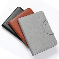 Buy cheap hot sale business handle bag A4 leather zipper portfolio with wireless powerbank from wholesalers