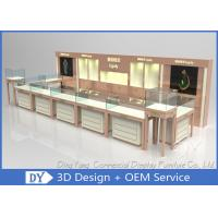 Buy cheap Nice Beige Jewellery Counters Showcases / Jewellery Showcase Design product