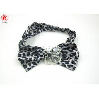Buy cheap Funky Beautiful Wide Elastic Girls Fabric Headband With Bowknot , Eco-Friendly from wholesalers