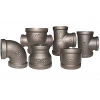Buy cheap Durable Black Metal Pipe Fittings , Socket Weld Pipe Fittings ISO7/1 Thread from wholesalers