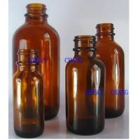 Buy cheap Amber boston round glass bottles from wholesalers